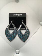 Lane Bryant Turquoise Gemmed Dangle Earrings