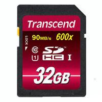 Transcend SDHC UHS-I 32 GB Speicherkarte 32GB TS32GSDHC10U1 Class 10 UHS 1 600x