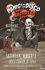 "Panic! At The Disco ""Death Of A Bachelor Tour"" 2017 Salt Lake Concert Poster-Pop"