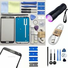 Samsung Galaxy Note 2 Glass Screen Replacement Repair Kit TITANIUM GREY UV TORCH