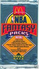 1993 mcdonalds upper deck nba fantasy basketball card packs(10 packs)