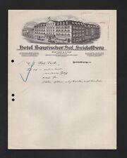 HEIDELBERG, Brief 1908, Hotel Bayrischer Hof A. Hirdt
