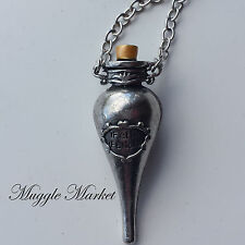 Felix Felicis. Magic Potion Bouteille Argent Collier Chance Liquide Ron Ginny Hermione