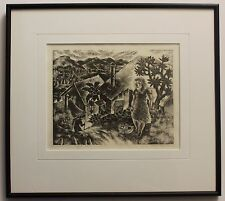 Original Signed Woodcut By Listed Hawaiian Artist Isami Doi - VERY RARE