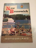 New Brunswick Canada Motourland Booklet, Tourist guide from 1950's