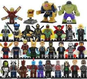 34pcs LEGO Set Marvel Super Heroes Figure Set Avengers 4 Endgame Infinity Wars