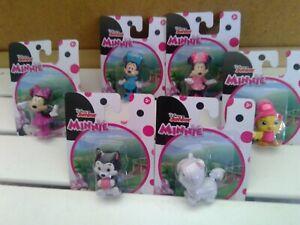 "Disney Minnie Mouse 2.5"" Disney Junior's Cake Topper Figure Figurine - Full set"