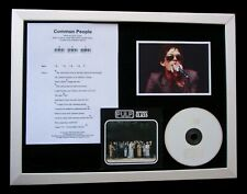PULP Common People LTD GALLERY QUALITY CD FRAMED DISPLAY+EXPRESS GLOBAL SHIPPING