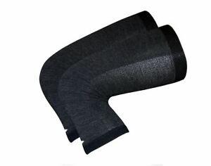 DeFeet Kneekers Merino Wool Knee Warmers Black - One Size