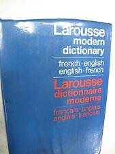 Larousse French - English English - French Modern Dictionary - HardCover 1960
