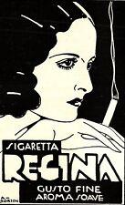 PUBBLICITA' 1932 SIGARETTE REGINA FUMO DONNA TABACCO CIGARETTE SMOKE  SCORZON