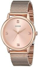 GUESS Unisex  Rose Gold-Tone Stainless Steel Mesh Bracelet Watch U0280G2