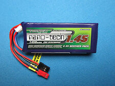 NANO-TECH 1450mAh 2S 6.6V 20C LiFe Po4 Rx BATTERY JST JR FUTABA M12 MT-4 RC LIPO