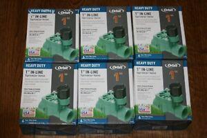 Lot Of 6 Orbit 57281 1-Inch FPT Heavy-Duty In-line Sprinkler Valve NEW In Box