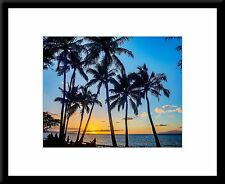 Framed Photographic Wall Art - Sunset in Maui Hawaii - 16 x 20 inch