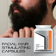 PRO GROWTH MENS BEARD GROWTH TABLETS FACIAL HAIR STIMULATING CAPSULES