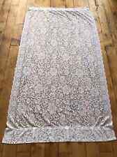 """Vintage JC Penny Curtain Lace Panel Flowers Floral 56"""" W 64"""" L Cottage"""