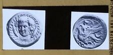 Greek Coins, River God and Nymph, Camarina, Magic Lantern Glass Slide