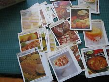Vintage Retro Australian Womens Weekly Recipe Cards replacements.