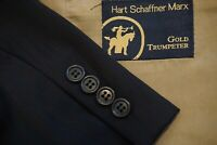 Hart Schaffner Marx Gold Trumpeter Black Orange Blue Striped Wool 2 PC Suit 42R