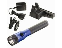 Streamlight Stinger C4 LED Flashlight Blue Anodized PiggyBack Charger 2 Batts -