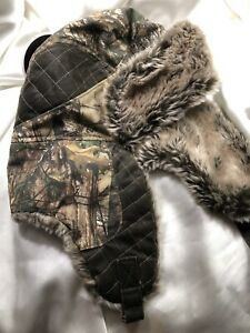 REALTREE Insulated Trapper/Bomber Fur Winter Hat Size ONE SIZE