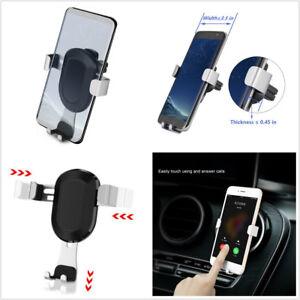 Adjustment Car Air Vent Outlet Gravity Mount 3.6-6 Inch Phone Holder Cradle Kit