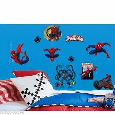 Ultimate Spiderman Wall Decals Stickers Mural Removable Licensed Set of 22