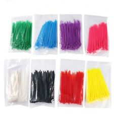 100 Self-locking Network Nylon Plastic Cable Wire Zip Tie Cord Strap 12 Color