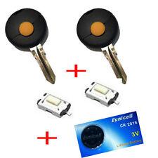 2x Für Smart 450 Schlüssel Funkschlüssel Gehäuse + Rohling + Taster +1x Batterie