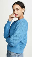 Vince - Directional Rib Pullover Boxy Fit Sweater - Blue - Size M $345 NWT