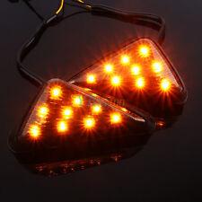 Motorcycle Smoke lens Flush Mount LED Turn Signal Indicator Amber Light New SE