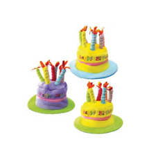 CAPPELLO FORMA DI TORTA COMPLEANNO HAPPY BIRTHDAY FESTA PARTY REGALO CANDELINE