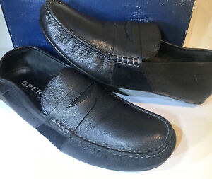 Sperry Top-Sider Black Leather Penny Loafer Boat Dress Shoe Size 12 #STS10379
