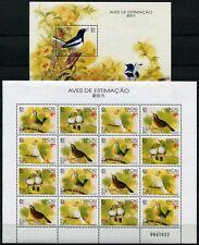 MACAU MACAO 1995 Vögel Birds SINGAPORE 814-17 KB + Bl.30 ** MNH
