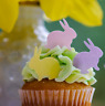 Edible Easter Bunnies  - Easter Bunny Cake Toppers - 36 per set