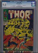 THE MIGHTY THOR #139 1967 - CGC 9.0 VF/NM WHITE PAGES