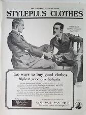 1920 Vintage MENS Styleplus Clothes Original Fashion Clothing Ad