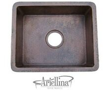 Ariellina 14 Gauge Handmade Bar Prep Copper Kitchen Sink Life Warranty AC3001
