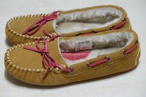 Clarks Eskimo Cloud Tan Suede warmed ladies slippers size 3/35.5, 4/37 D
