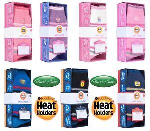 Heat Holders Thermal Winter Warm Gift Box Socks 2 Sizes 7 Designs Great Present