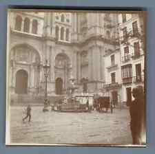 España, Catedral de Malaga Vintage citrate print. Vintage Spain. Tirage citr