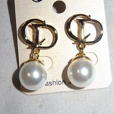 Pearl Alloy Rhinestone Costume Earrings