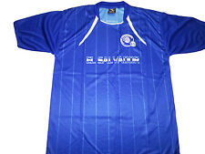 El Salvador Soccer Jersey 100%Polyester Blues Drako One Size Fits All Sh. Sleeve