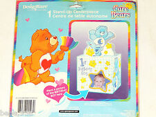 New Care Bears 1st Birthday Boy 1-Stand-Up Centerpiece Place A Picture Boy
