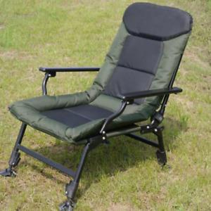 Outdoor Armchair Fishing Camping Hiking Chair High Strength Recliner Bedchair UK