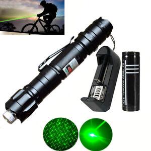 1mw Green Lazer Laser Pointers Pen Beam Burn Zoom Adjust 18650 Battery Charger