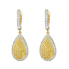 1.16ct Fancy Yellow Diamonds Earrings 18K All Natural 6 Grams Real Gold Canary