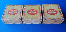Lot of (3) POM POM OPERAS Vintage Cigar Boxes
