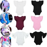 Newborn Baby Girls Romper Tops T-shirt Jumpsuit Flare Sleeves Clothes Outfit Set